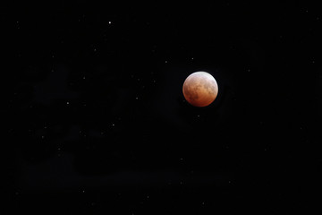 lunar eclipse on October 8, 2014