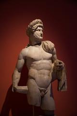 Statue of a young Roman warrior, Antalya, Turkey