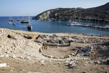 Boats in Knidos, Mugla, Turkey