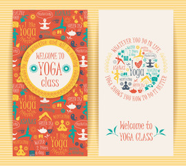 Flyers for yoga class.