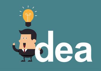 Businessman get the  idea,  Idea concept