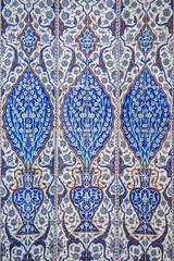 Macro view of mihrab tiles in Rustem Pasa Mosque, Istanbul