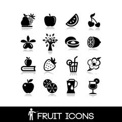Fruit icon set - citrus vectors