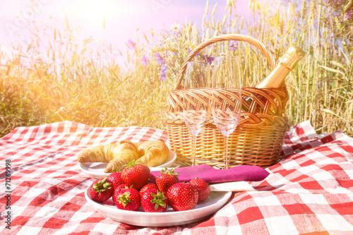 canvas print picture picknick im freien