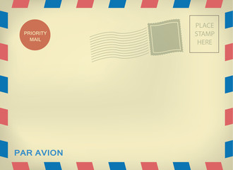 Mailing enveloper par avion on aged paper