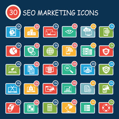 Search Engine Optimization,SEO Development icons,clean vector