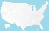 Fototapety Karte der USA