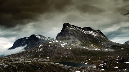 1080p, Epic and dramatic time lapse of Trollstigen area in Norwa