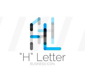 H letter logo, minimal line design