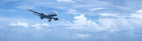 Jet plane in a cloudy sky