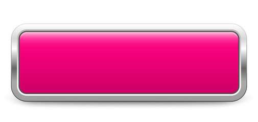 Long rectangular template - pink metallic button