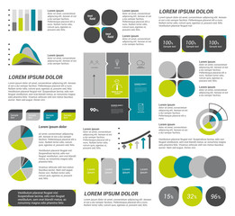 Collection of flat infographics elements.