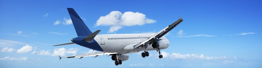 Jet plane in a blue sky
