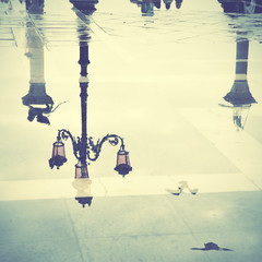 Venice in puddle