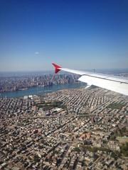 New York aereo finestrino Manhattan