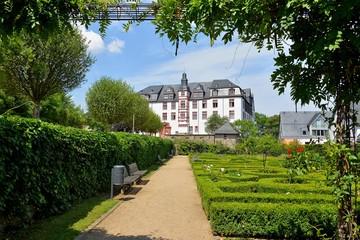 Rosengarten vor dem Residenzschloss in Idstein