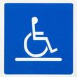 reserved parking sign for handicapped