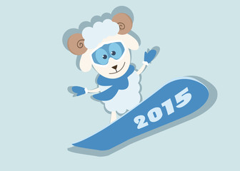 new year's sheep