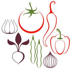 Vegetable. Set