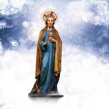 jesus christ statue and snow background