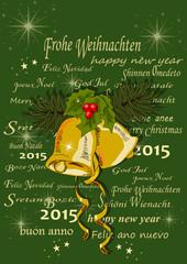 Weihnachten, Silvester  Grusskarte