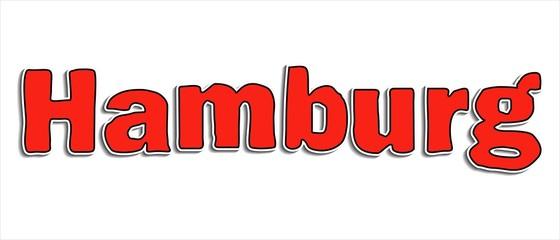 Hamburg Information Überschrift rote Buchstaben