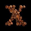 Coffee alphabet letter