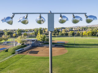 baseball fields and lights