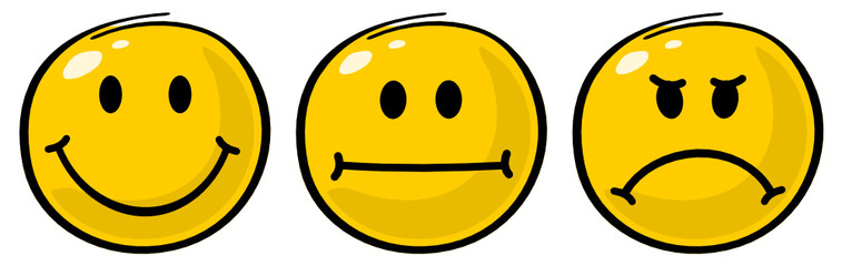 verschiedene Smileys