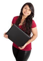 school girl with black folder