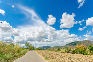 Country road & blue sky