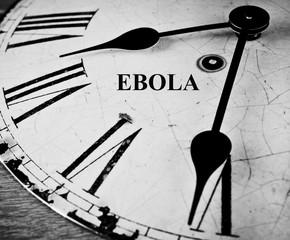 Ebola black and white clock face