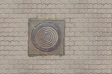 pavement manhole