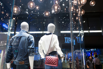 tourist go shopping at shopping center in Bangkok, thailand