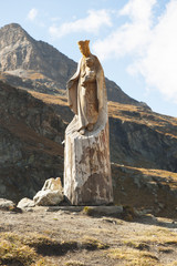 Marienstatue auf Schwarzsee ob Zermatt