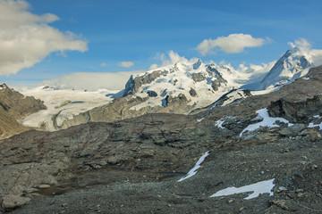 Gornergletscher mit Breithorn, Zermatt