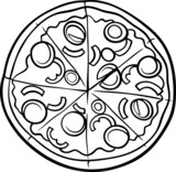 italian pizza cartoon coloring page - 71275776