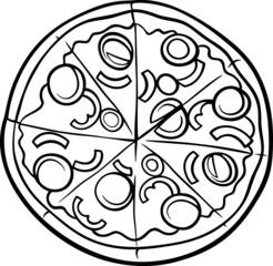 italian pizza cartoon coloring page
