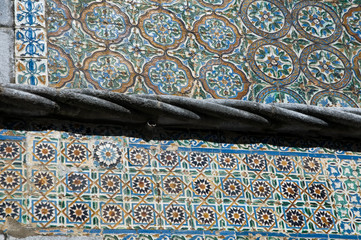 Ancient Portuguese tiles in Pena palace