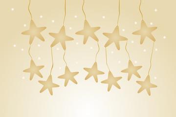 Fondo con Estrellas colgantes marrones