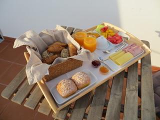 Breakfast on a tray