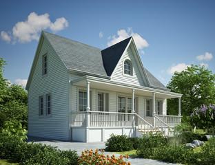 Holzhaus Kanada weiss
