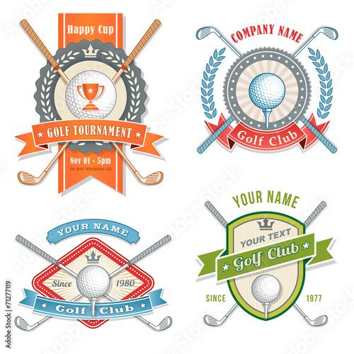 Fototapeta Golf Club Logos