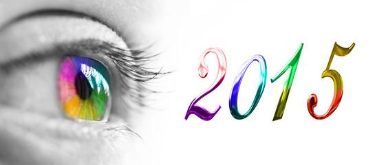 2015 colorful rainbow eye