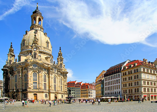 Foto op Canvas Temple Lutheran church Dresden Frauenkirche in Dresden