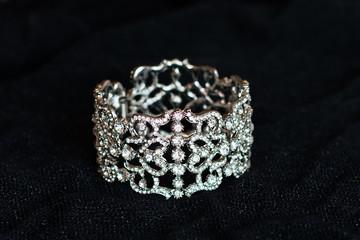 Bracelet, luxury jewellery, isolated on black background