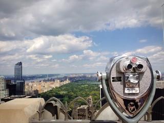New York Central park skyline Manhattan vista