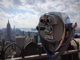 New York binocolo Empire State building terrazza