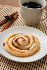 Cinnamon rolls on a plate,dessert