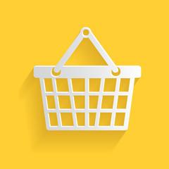 Basket symbol,clean vector